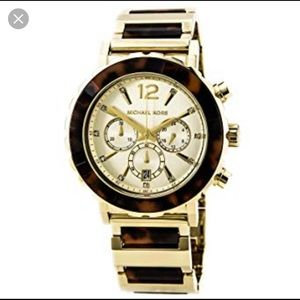 Michael Kors gold/tortoise watch - good condition